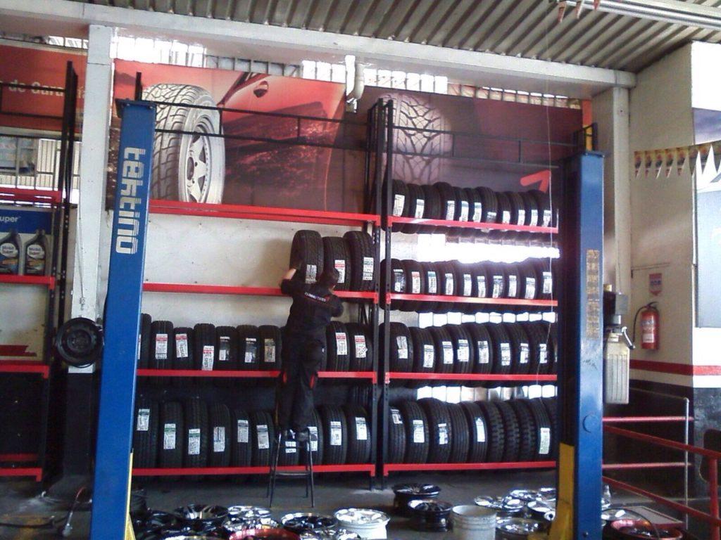 estanteria metalica para llantas